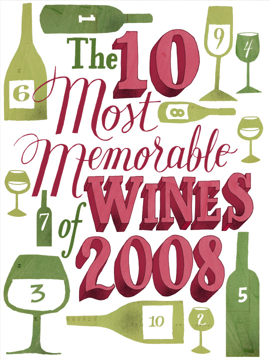 Leigh Wells lllustration lettering San Francisco Chronicle Wine