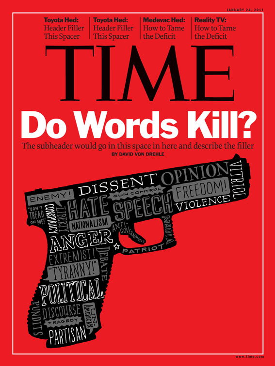Leigh Wells Lettering Illustration Time Magazine Gun Violence